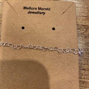 Sterling silver simple love bracelet